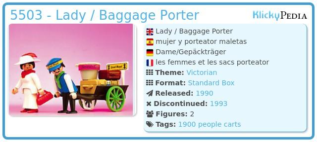 Playmobil 5503 - Lady / Baggage Porter