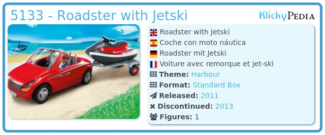 Playmobil 5133 - Roadster with Jetski