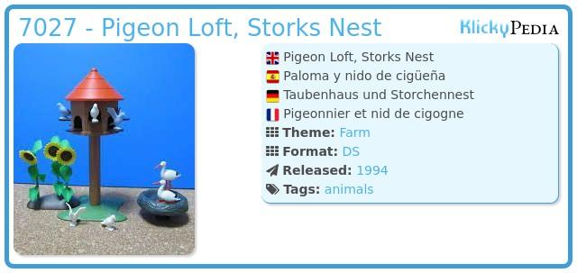 Playmobil 7027 - Pigeon Loft, Storks Nest