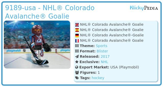 Playmobil 9189-usa - NHL® Colorado Avalanche® Goalie