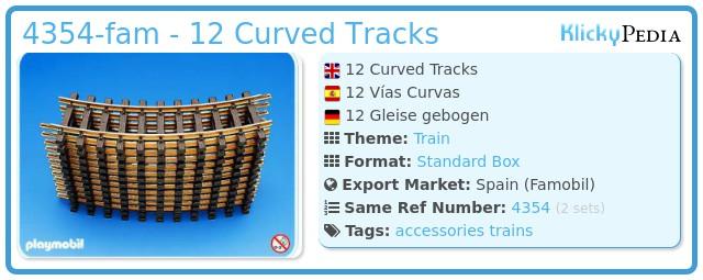 Playmobil 4354-fam - 12 Curved Tracks
