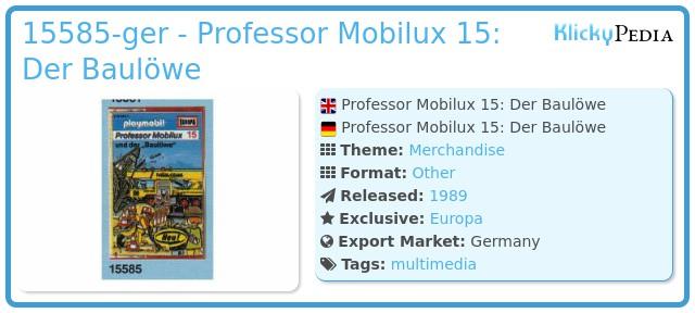 Playmobil 15585-ger - Professor Mobilux 15: Der Baulöwe