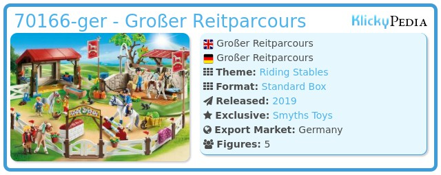 Playmobil 70166-ger - Großer Reitparcours