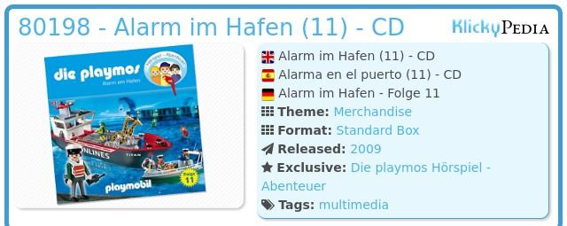 Playmobil 80198 - Alarm im Hafen (11) - CD