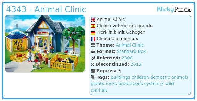 Playmobil 4343 - Animal Clinic