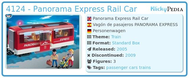 Playmobil 4124 - Panorama Express Rail Car