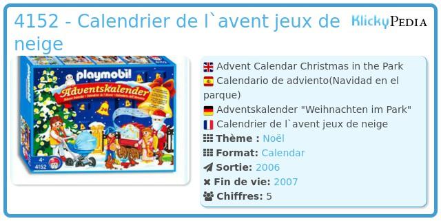 Playmobil 4152 - Advent Calendar Christmas in the Park
