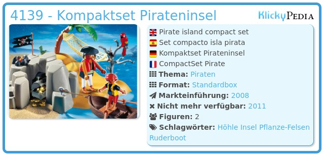 Playmobil 4139 - Kompaktset Pirateninsel