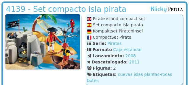Playmobil 4139 - Set compacto isla pirata