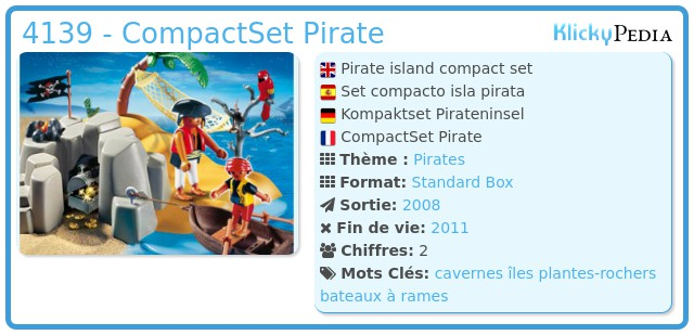 Playmobil 4139 - CompactSet Pirate