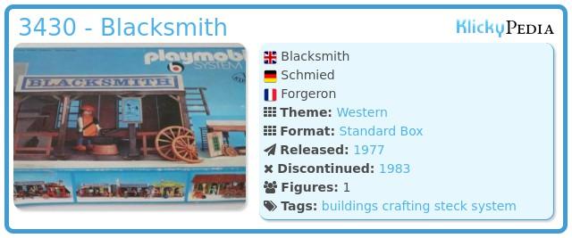 Playmobil 3430 - Blacksmith