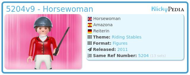 Playmobil 5204v9 - Horsewoman