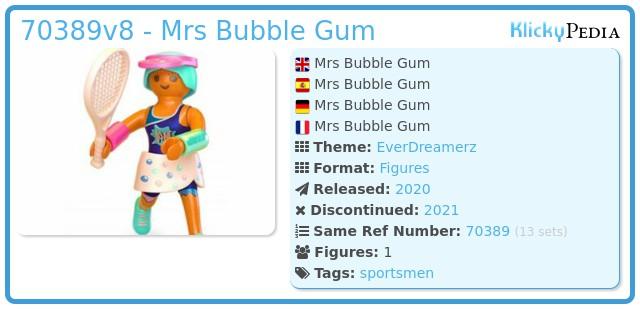 Playmobil 70389V8 - Mrs Bubble Gum