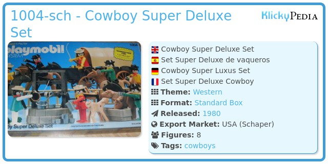 Playmobil 1004-sch - Cowboy Super Deluxe Set