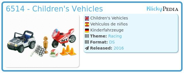 Playmobil 6514 -  Children's Vehicles