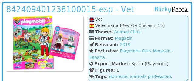 Playmobil 842409401238100015-esp - Vet