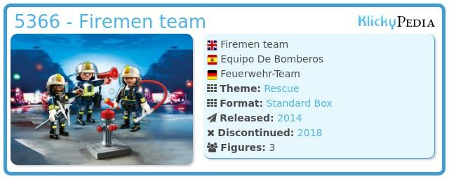 Playmobil 5366 - Firemen team