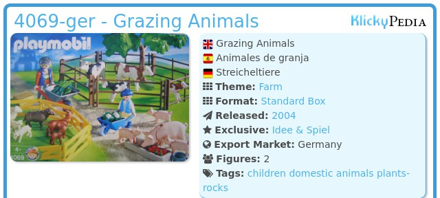 Playmobil 4069-ger - Grazing Animals