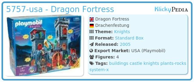 Playmobil 5757-usa - Dragon Fortress