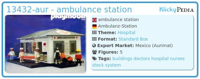 Playmobil 13432-aur - ambulance station
