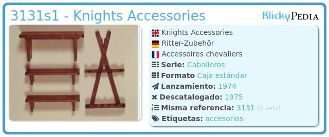 Playmobil 3131s1 - Knights Accessories
