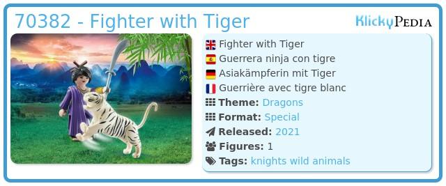 Playmobil 70382 - Ninja warrior with tiger
