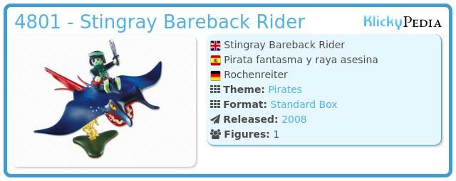 Playmobil 4801 - Stingray Bareback Rider