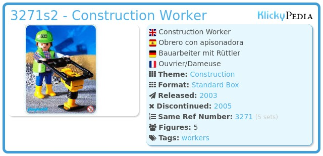 Playmobil 3271s2 - Construction Worker