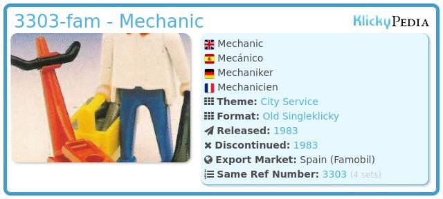 Playmobil 3303-fam - Mechanic