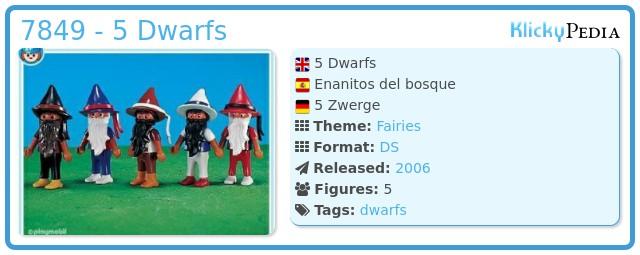 Playmobil 7849 - 5 Dwarfs