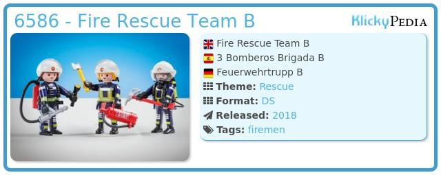 Playmobil 6586 - Fire Rescue Team B