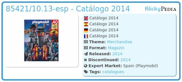 Playmobil 85421/10.13-esp - Catálogo 2014