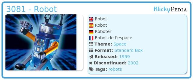 Playmobil 3081 - Robot