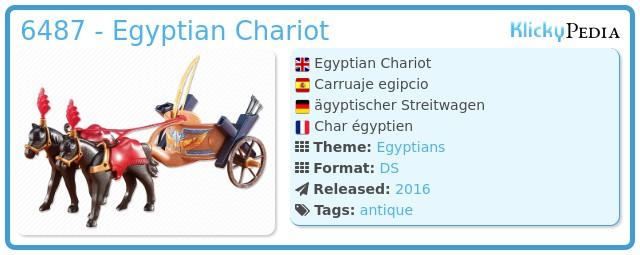 Playmobil 6487 - Egyptian Chariot