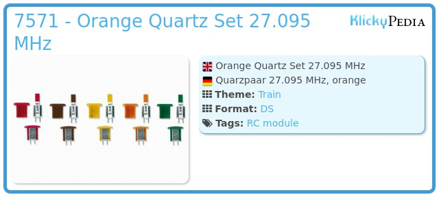 Playmobil 7571 - Orange Quartz Set 27.095 MHz