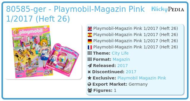Playmobil 80585-ger - Playmobil Magazin Pink 01/2017 (Heft 26)