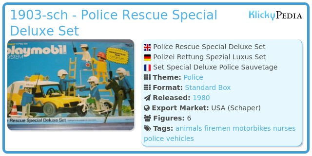 Playmobil 1903-sch - Police Rescue Special Deluxe Set