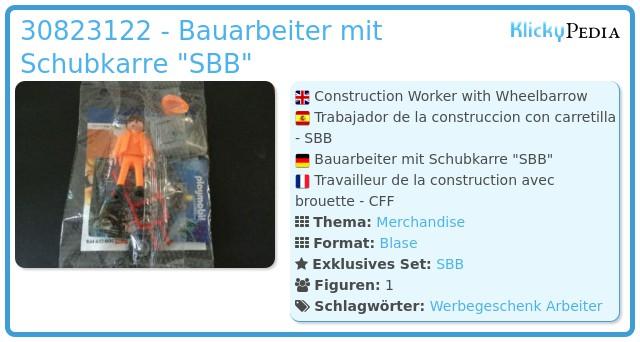Playmobil 0000v1-ger - Bauarbeiter mit Schubkarre