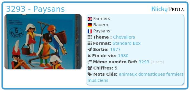 Playmobil 3293 - Paysans