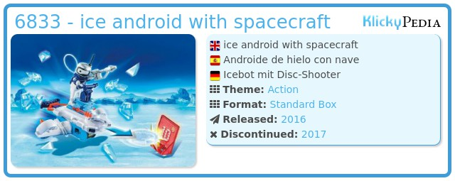 Playmobil 6833 - ice android with spacecraft