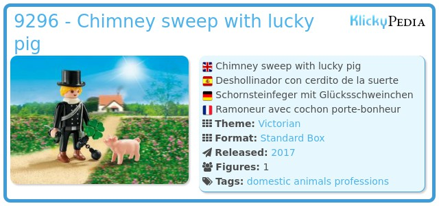 Playmobil 9296 - Chimney sweep with lucky pig