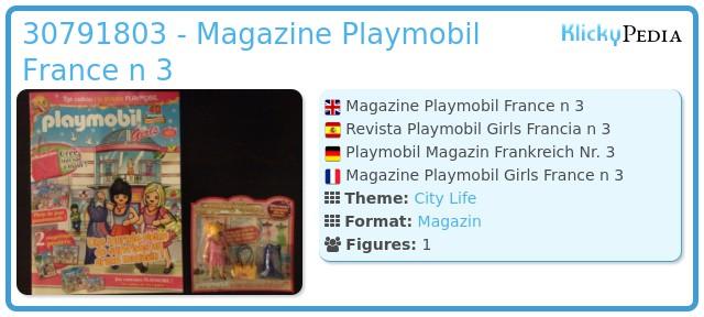 Playmobil 30791803 - Magazine Playmobil France n 3