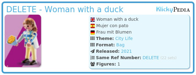 Playmobil 70149-12 - Woman with a duck