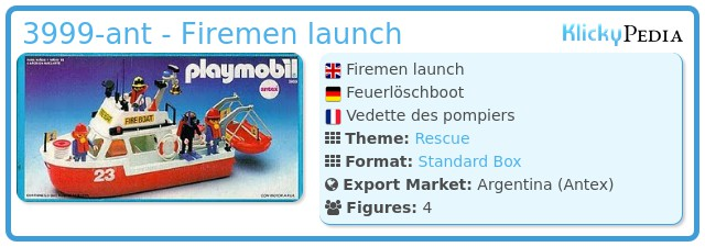 Playmobil 3999-ant - Firemen launch