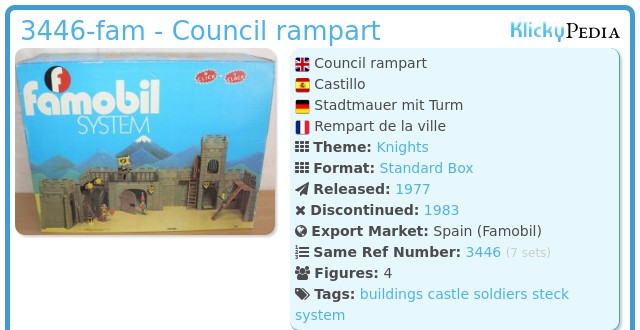 Playmobil 3446-fam - Council rampart