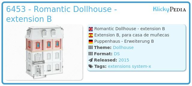 Playmobil 6453 - Romantic Dollhouse - extension B