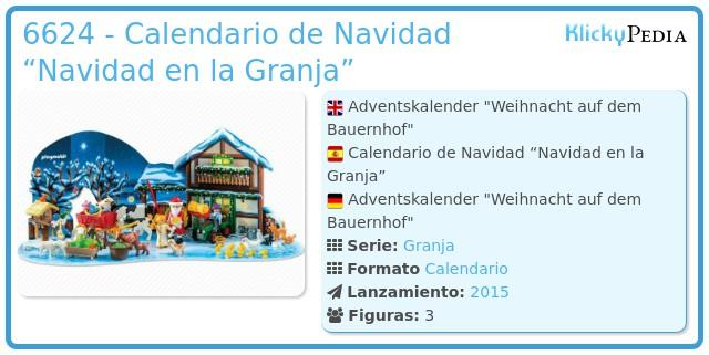 """Playmobil 6624 - Calendario de Navidad """"Navidad en la Granja"""""""