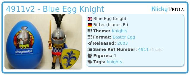 Playmobil 4911v2 - Blue Egg Knight