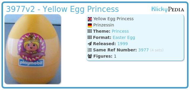 Playmobil 3977v2 - Yellow Egg Princess