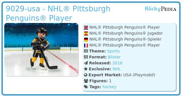 Playmobil 9029-usa - NHL® Pittsburgh Penguins® Player